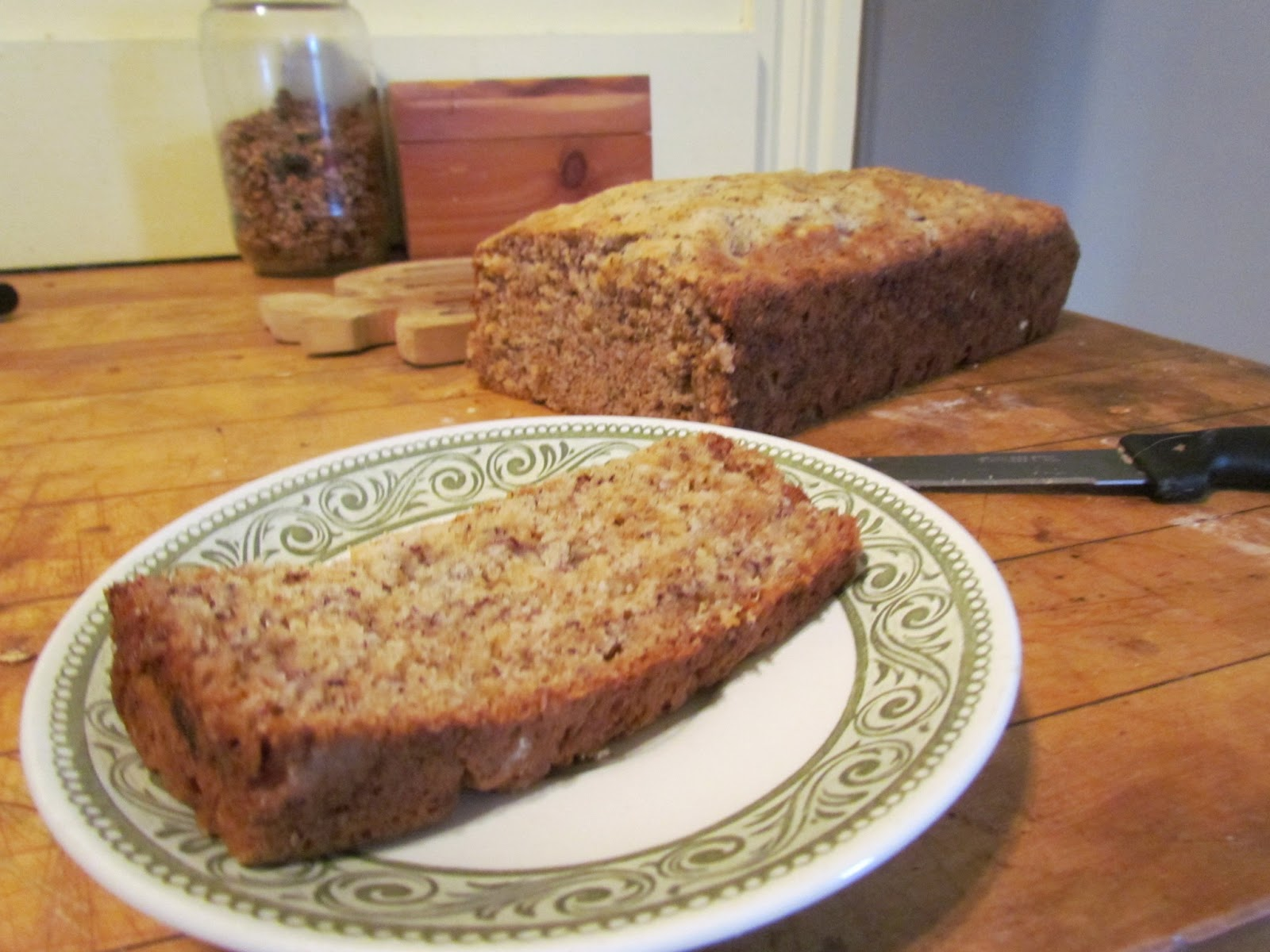 Banana Bread Never Lasts Long In This House A Full Loaf Will Last Maybe Two Days Before The Boyfriend And I Have Polished Off Every Last Bite